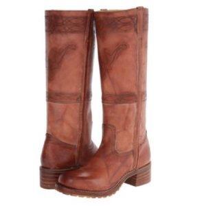 FRYE Campus stitching stone wash boots